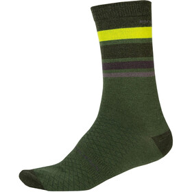 Endura BaaBaa Merino Stripe Socks Men, green